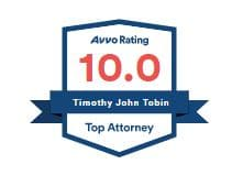 Avvo clients choice injury claim attorney, Timothy Tobin in San Tan Valley, AZ