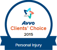 Avvo personal injury client's shoice award