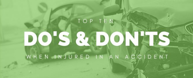 Top Ten Dos Donts Injured In Car Accident