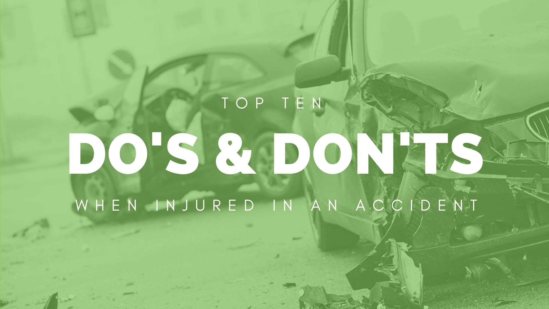 Top ten do's and don'ts when injured in an Arizona car accident